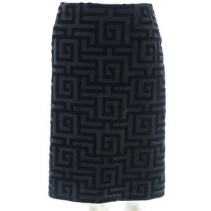 MELLY M. SKIRT WITH ABSTRACT VELVET PRINT SIZE 8